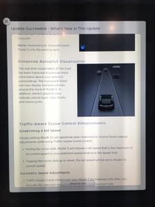 Tesla Update 7.1 Feature verbesserte Autopilot Darstellung