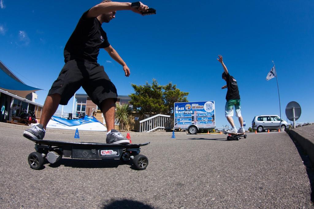 evo ESkateboard in Aktion